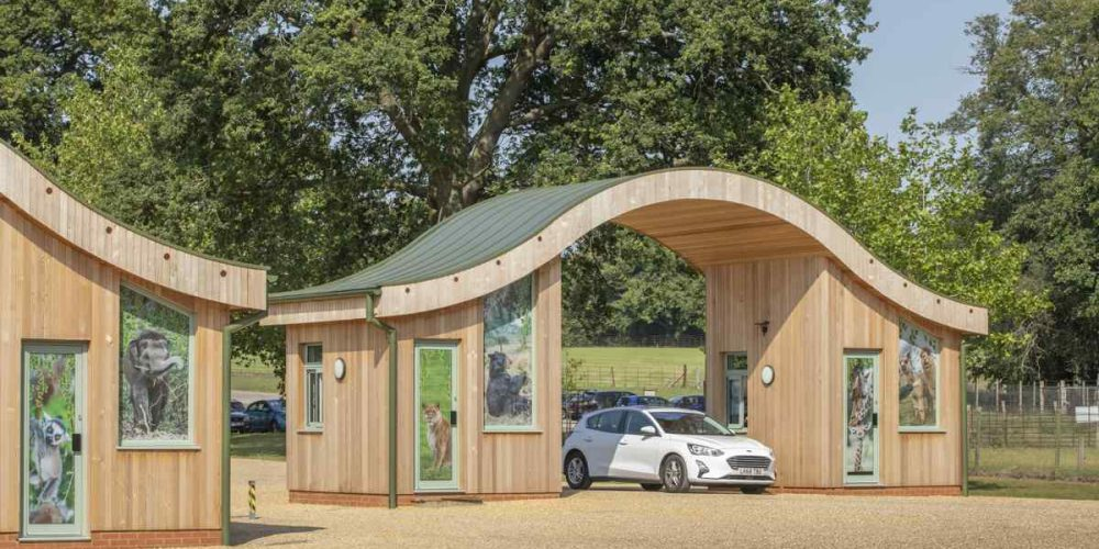 New entrance helps visitors welcome new arrivals